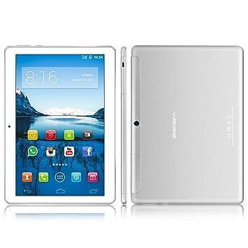 3G Tablet 10 Pulgadas BEISTA- (SIM+WiFi, Tarjeta Sim Dual,Quad Core G + G Pantalla de Vidrio Templado, 2 GB Memoria RAM, 32 GB Memoria Interna , ...