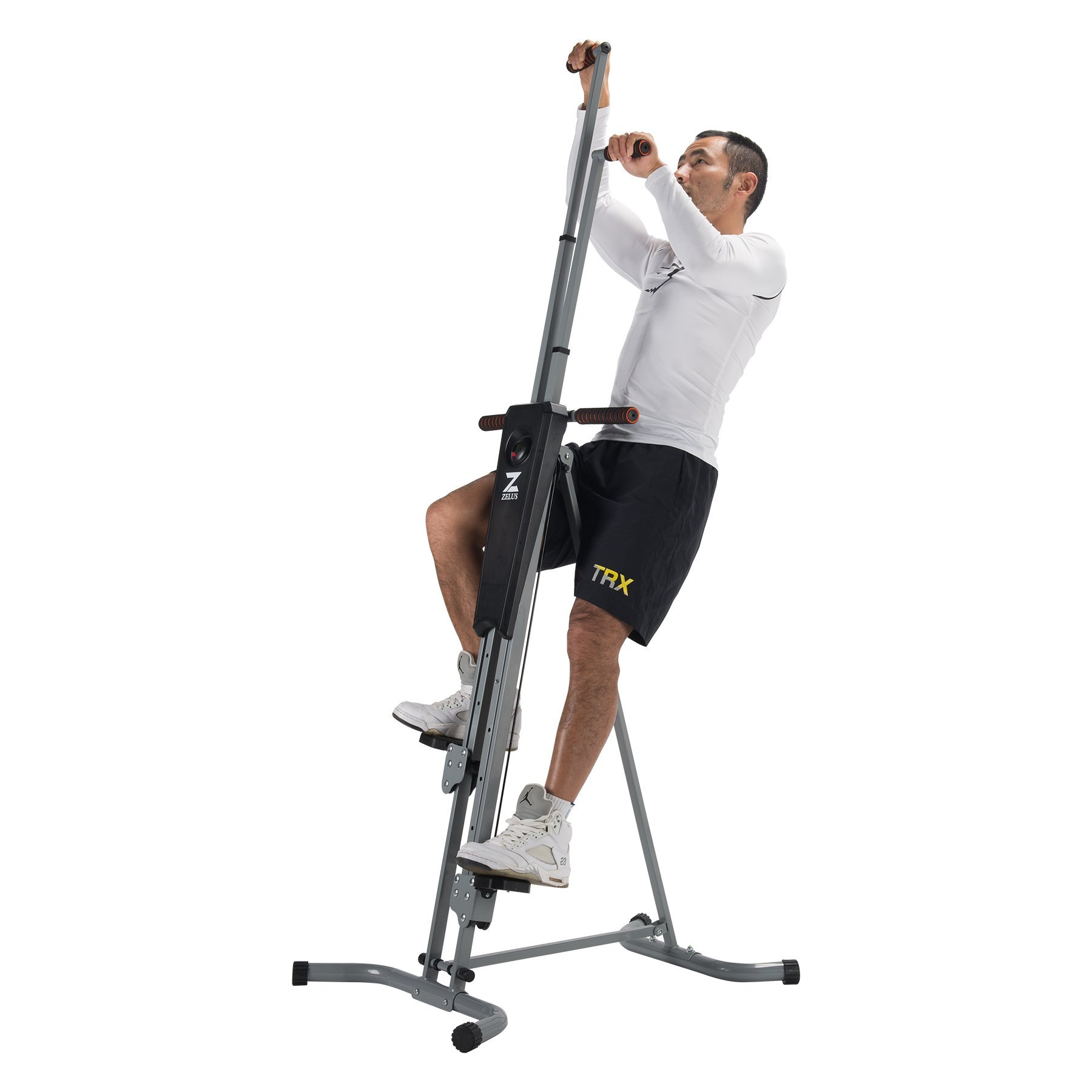 Happy Habor Folding Vertical Climber Machine Fitness Climbing Equipment for Home Gym Step Climber Exercise Machine with LED Display by Happy Habor