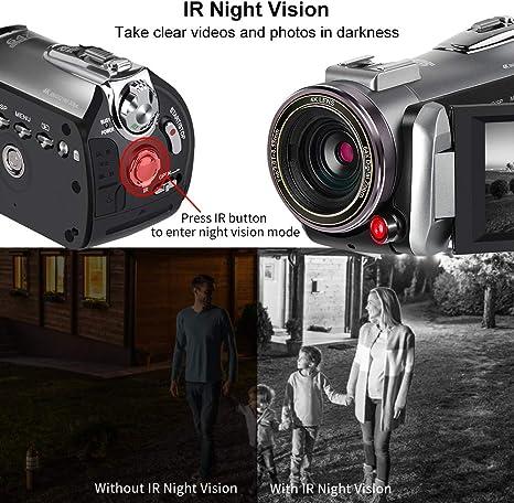 Videocámara 4K ORDRO Video Camera 4k 30fps Vlog Camera Full HD ...