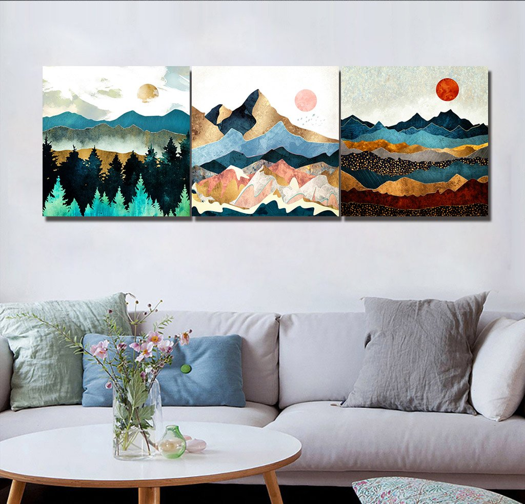 Perfekt LB Kinderzimmer Dekorative Malerei, Impressionismus, Bunt, Berge,  Sonnenaufgang, Bild Druck Auf Leinwand Wandkunst Für Wohnzimmer  Schlafzimmer Dekoration 3 ...
