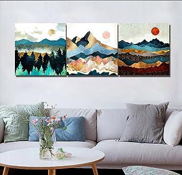 Fesselnd LB Kinderzimmer Dekorative Malerei, Impressionismus, Bunt, Berge,  Sonnenaufgang, Bild Druck Auf