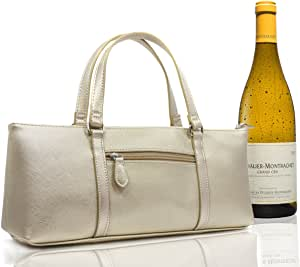 Wine Bottle Bag Wine Gift Bag Insulated Bottle Cooler BYO Purse Handbag