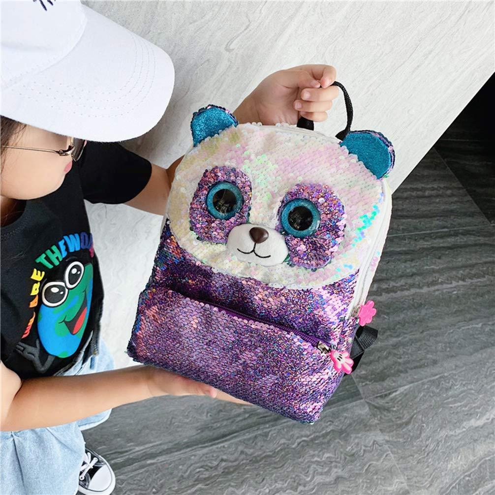noir sequin /él/égant sac /à dos panda sac /à dos sac de rangement de voyage pour enfants enfants filles