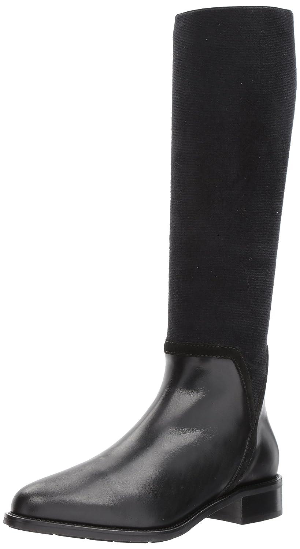 Aquatalia Women's Nicolette Calf/Elastic Knee High Boot Black
