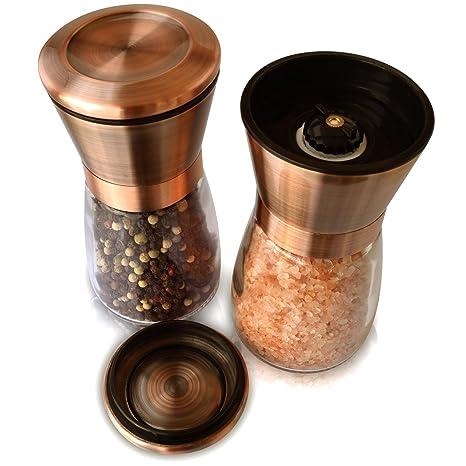 Amazon.com: Cepillado de sal y molinillo de pimienta Set ...