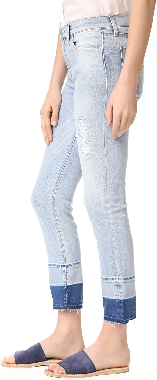 HUDSON Womens Zoeey High Rise Straight Jean with Released Raw Hem