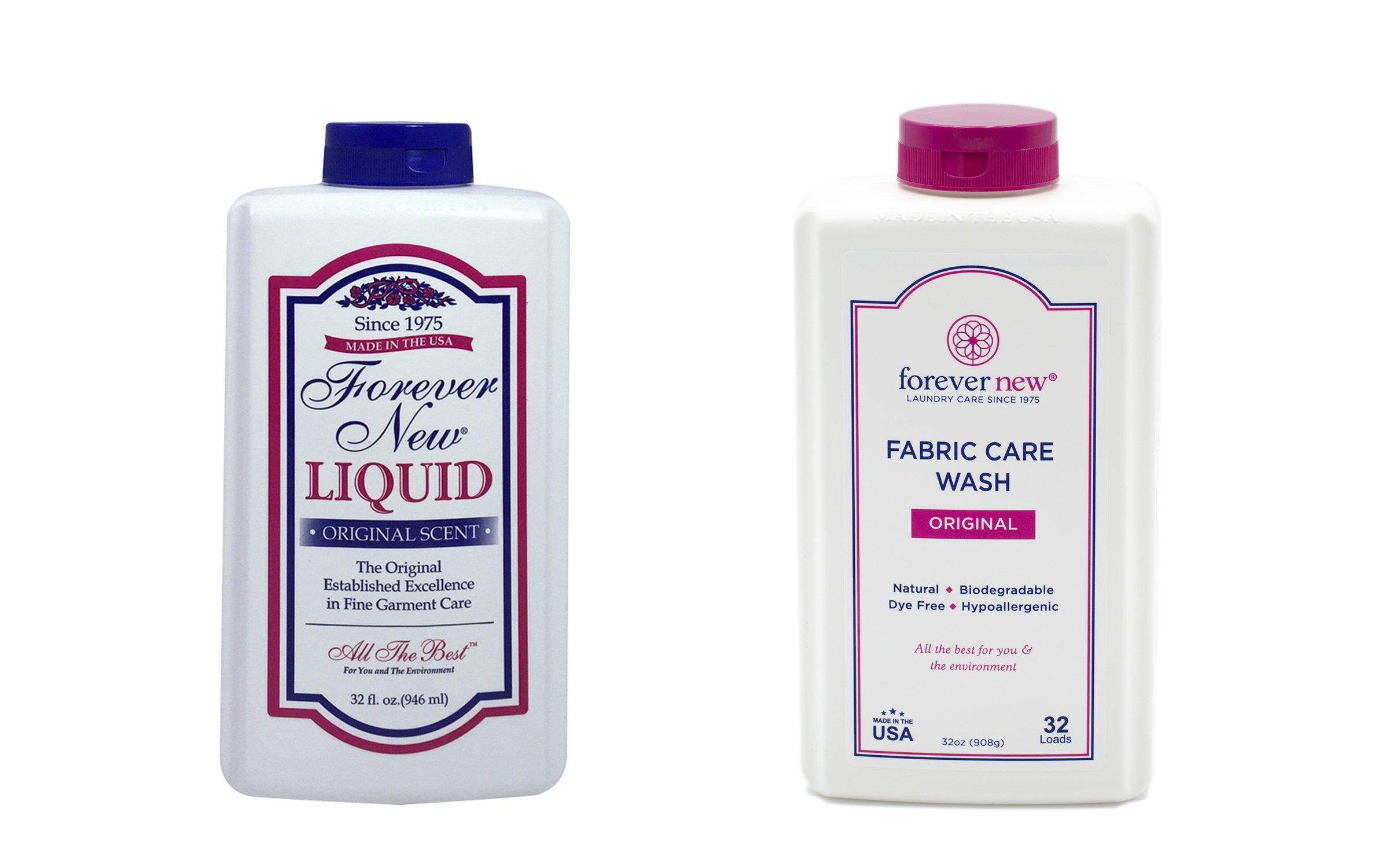 Forever New 32oz Granular and 32oz Scented Liquid Fabric Care Wash (64oz Total)