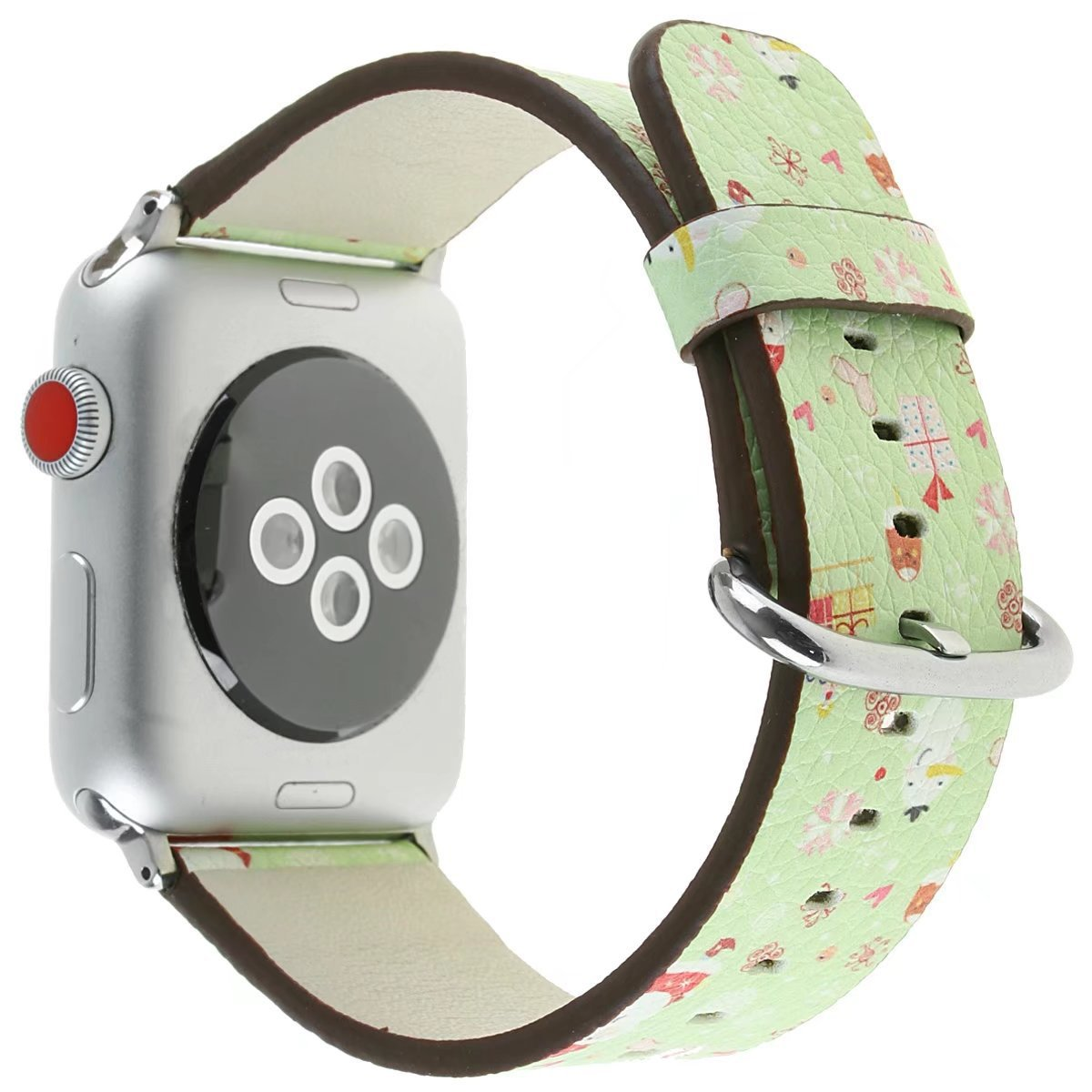 PU Leather Band for Apple Watch 38mm Band Women Men iwatch Replacement Wristband