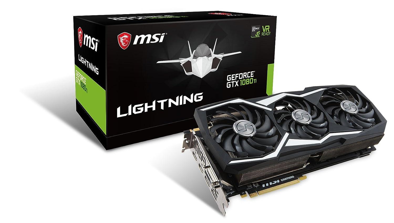 MSI GeForce GTX 1080 Ti Lightning Z - Tarjeta gráfica (refrigeración Three Frozr, Backplate, 11 GB de Memoria GDDR5X, VR Ready, Leds RGB)