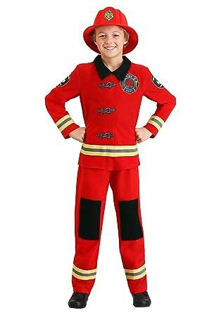 Disfraz de bombero para niños, tamaño mediano: Amazon.es: Ropa y ...