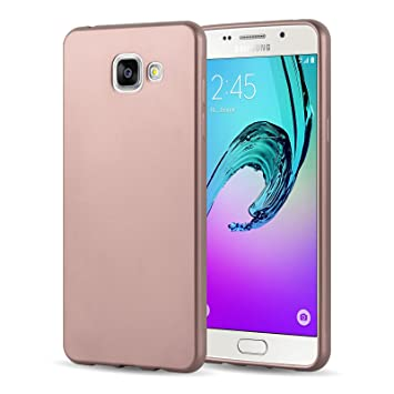 cheap for discount d6c4e 36cca Galaxy A3 (2016) Case, JAMMYLIZARD Ultra Slim Silicone Metallic Jelly  Rubber Back Cover for Samsung Galaxy A3 (6) 2016, Rose Gold