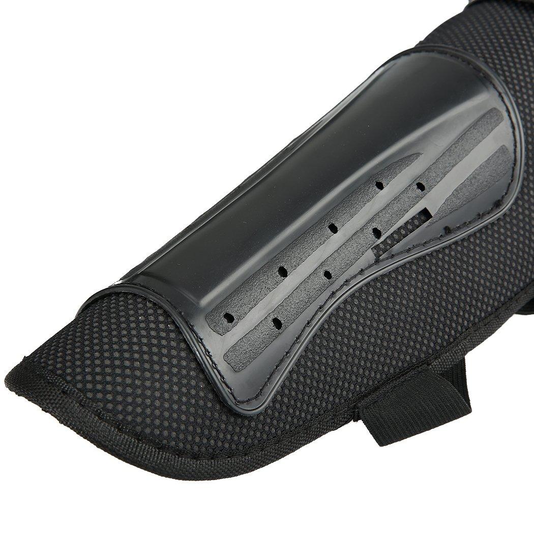 attrezzatura protettiva per le tibie e i gomiti ginocchiere e gomitiere kit per motocross da 4 pezzi Zcare ideale per moto e fuoristrada 2 coppie