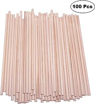 Varillas de Madera de Bambú, Natural Redondo Palitos, Palos de ...