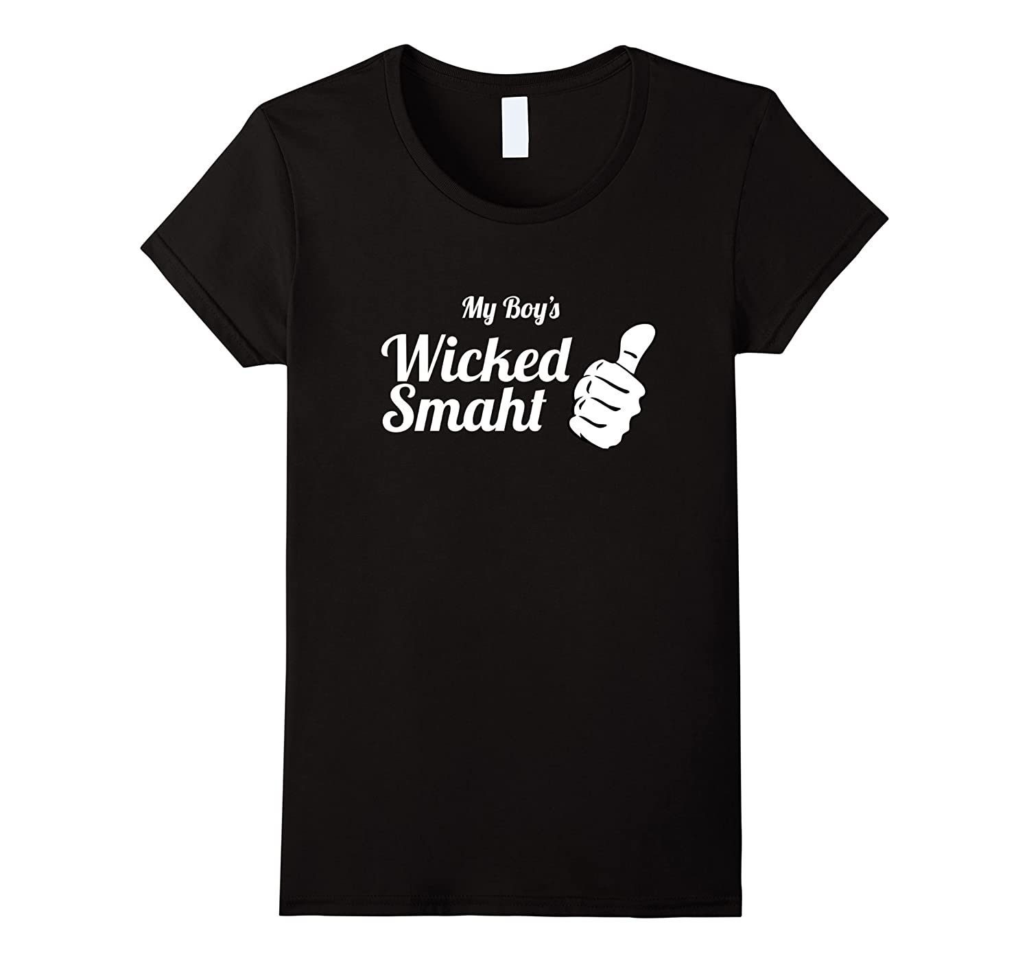 amazon com boston novelty t shirt my boy s wicked smaht clothing