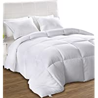 Down Alternative Comforter - All Season Comforter - Plush Siliconized Fiberfill Duvet Insert - Box Stitched- by Utopia Bedding
