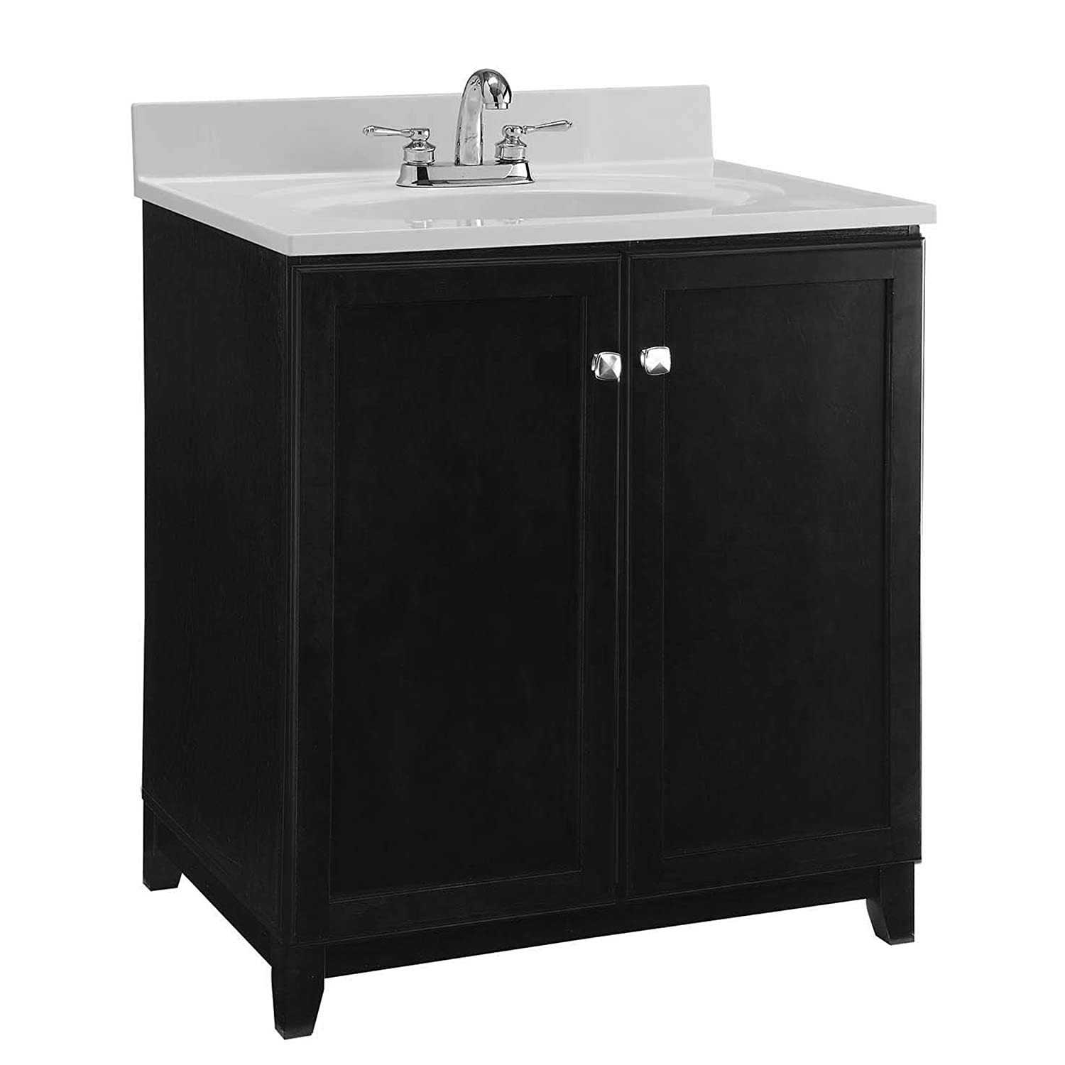 Design House 547000 Shorewood Furniture-Style Vanity Cabinet with 2-Doors, 30-inches by 21-inches, Espresso