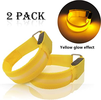 Reflective LED Armband Ankle USB Rechargeable Light Running Cycling Night Safety
