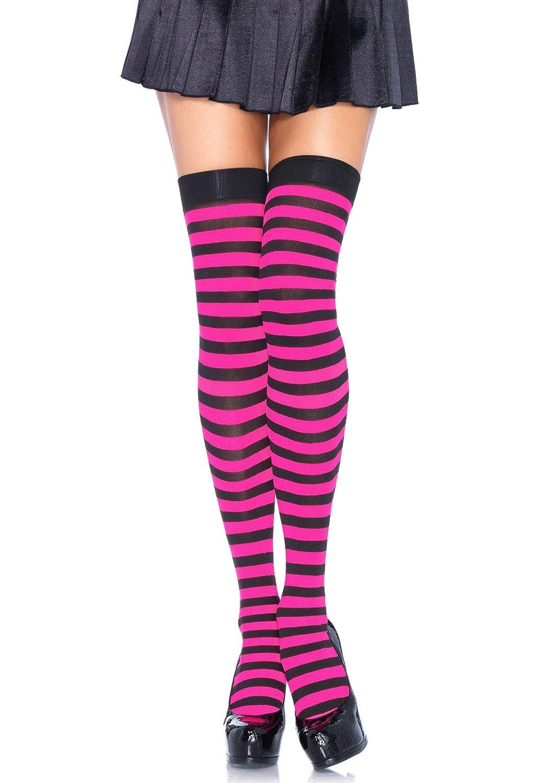 Leg Avenue calze di nylon da donna con righe 600522102