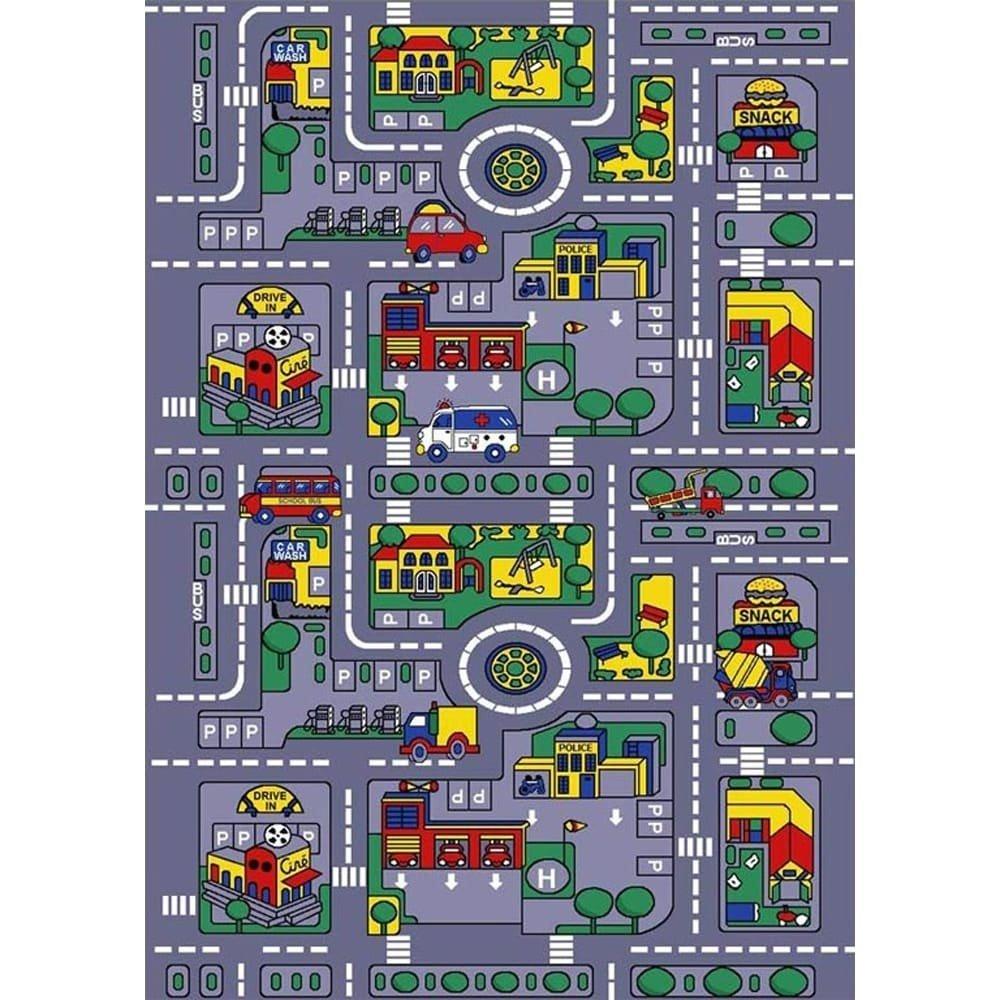 SINTECHNO Kids City Map Children Area Rug, 5' x 7'