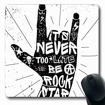 Luancrop Alfombrillas Insignias Tatuaje Hard Rock Citas Nunca ...
