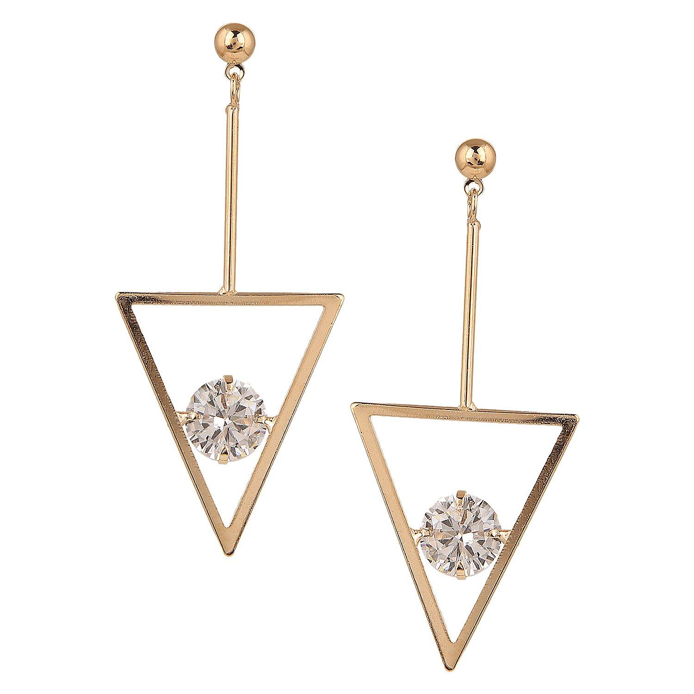 Wedding Bride Bridesmaids Efulgenz Gold Tone CZ Long Chain Linear Tassel Dangle Drop Earrings for Girls and Women