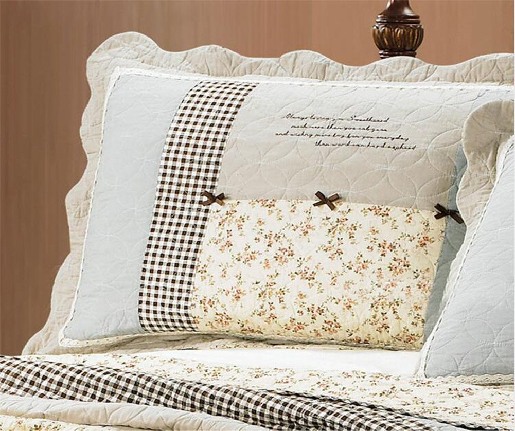 3 Piece Bow-Knot Floral Patchwork Bedspreads Quilt Comforter Sets