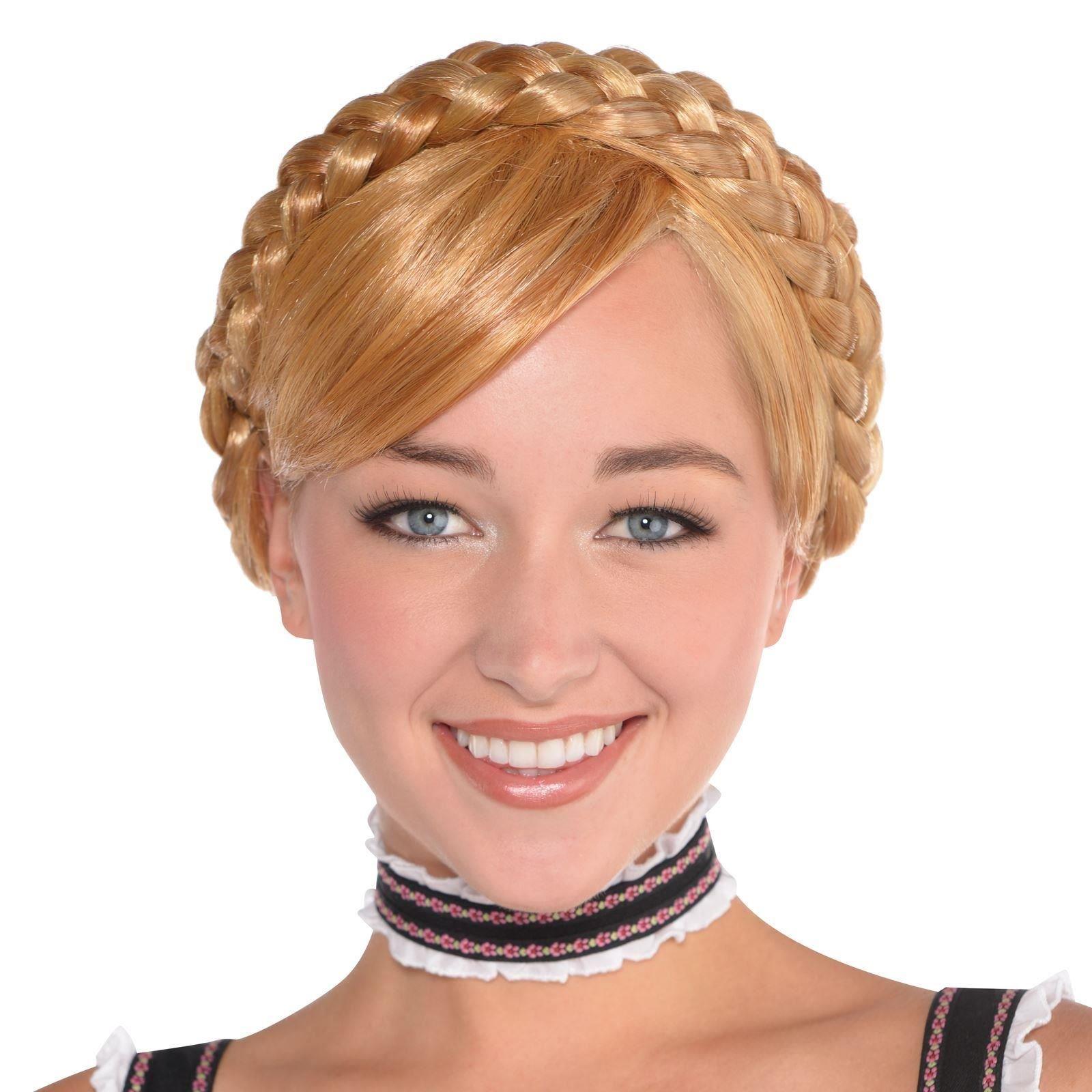 Ladies Blonde Pigtail Wig Heidi Oktoberfest Plaited Wig Fancy Dress Accessory