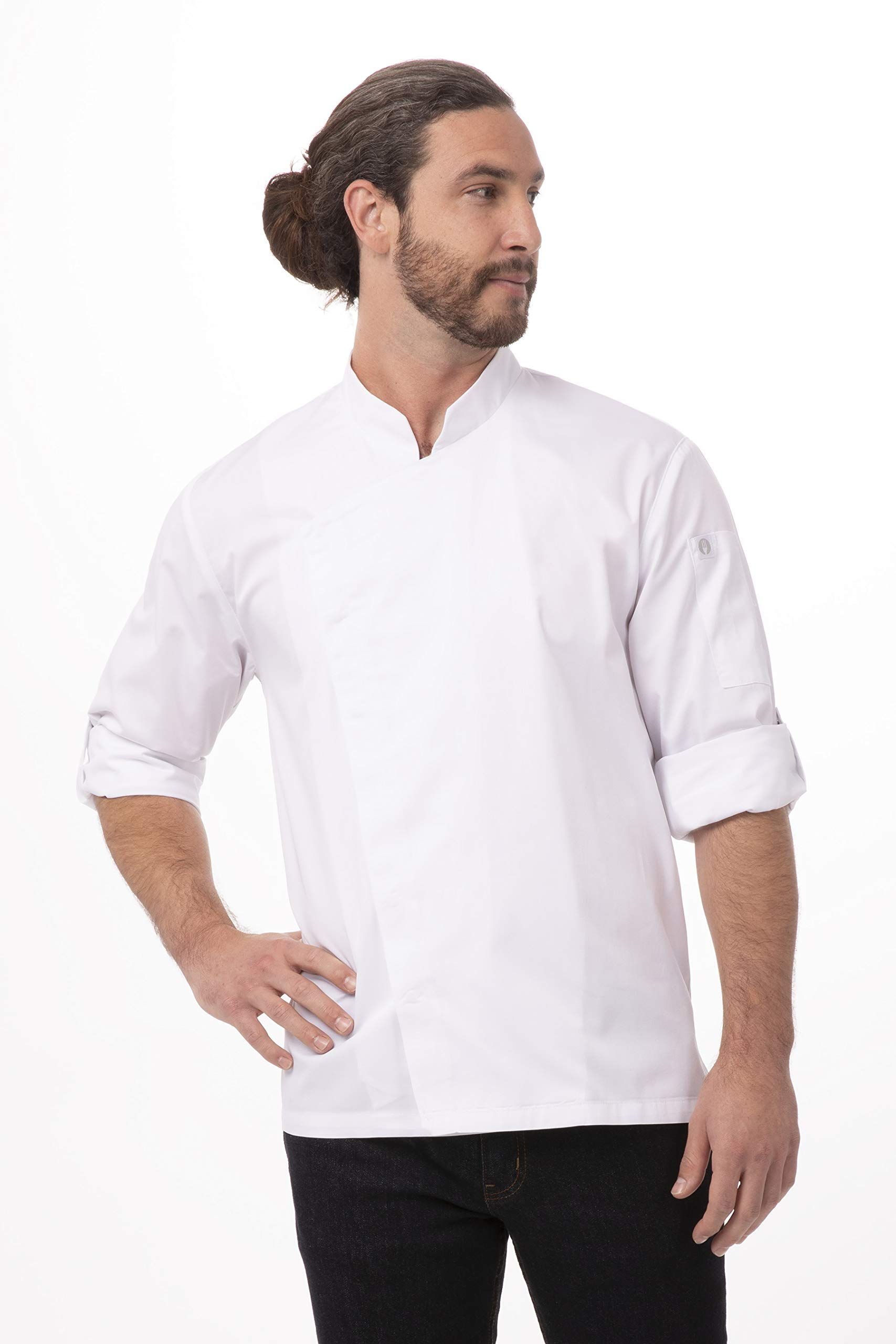Chef Works Men's Lansing Chef Coat, White, Large by Chef Works