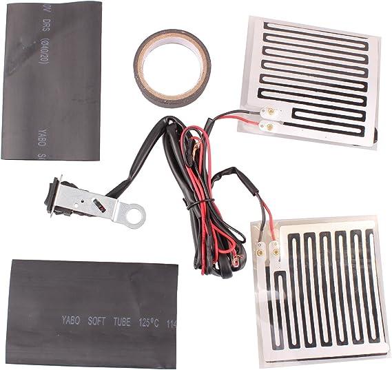 12 V Universal Heart Horse Kit de Almohadillas de Calentamiento para Manillar de Motocicleta