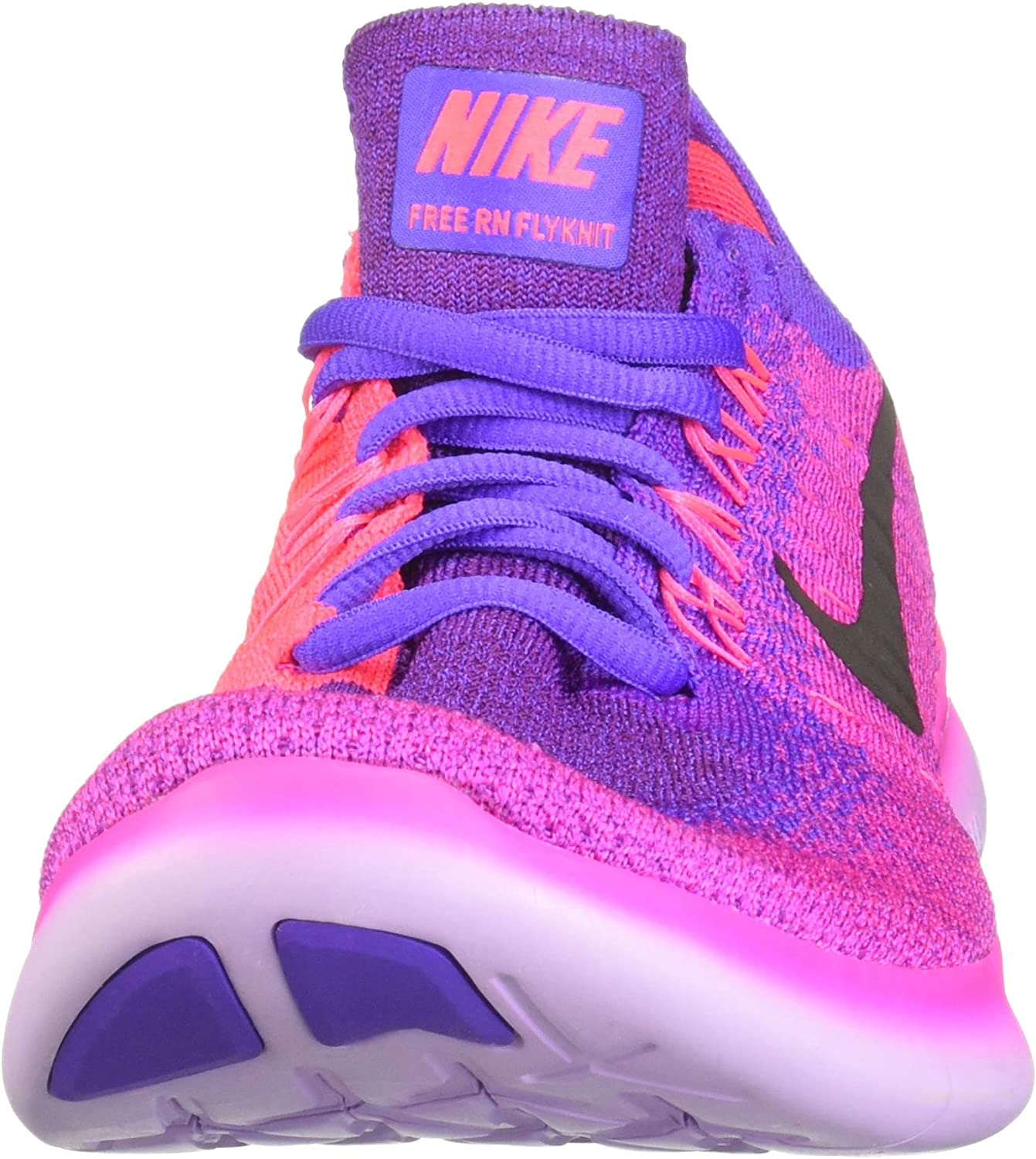 Nike Wmns Free Rn Flyknit 2017, Zapatillas de Trail Running para Mujer, Multicolor (Fire Pink/Black/Hyper Grape/Racer Pink 600), 37.5 EU: Amazon.es: Zapatos y complementos