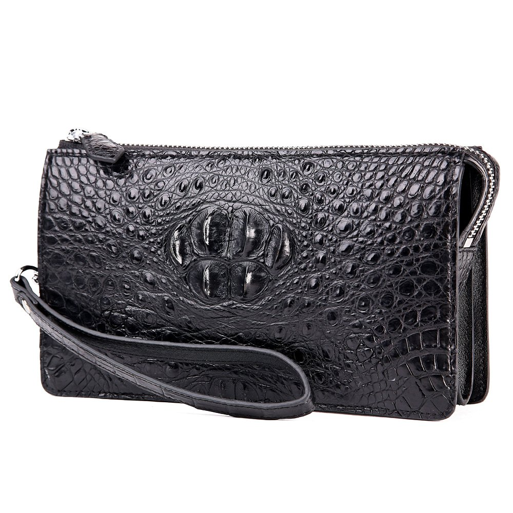 Men Real Crocodile Leather Business Clutch Bag Large Capacity Bag