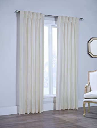Amazoncom Sunshine Canton 100 Cotton Pinch Pleated Drapes Ready
