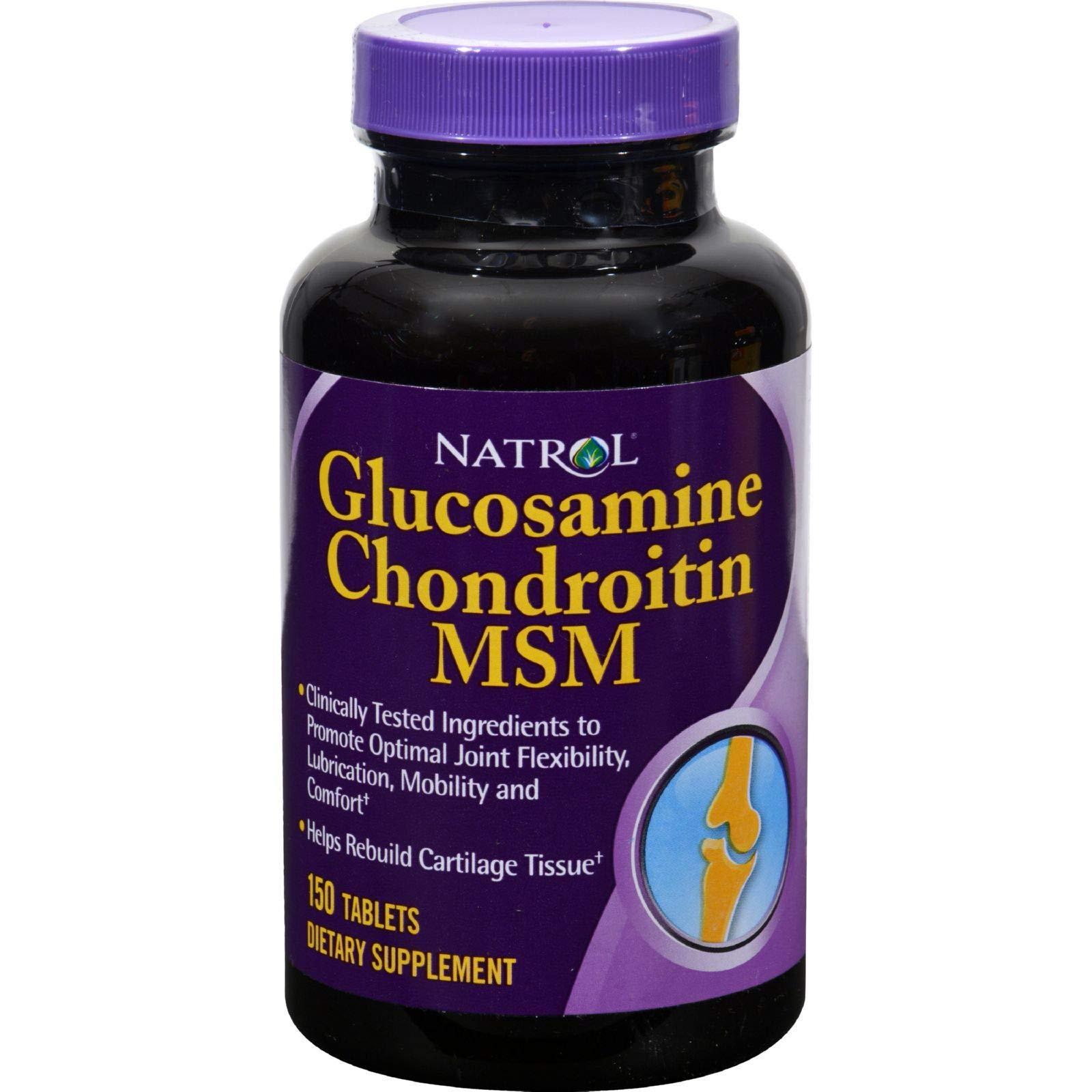Natrol Glucosamine Chondroitin MSM 150 Tablets by Natrol