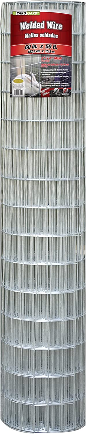 """YARDGARD 308333A Welded Wire, 60"""" by 50 Foot, Color - Galvanized"""