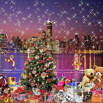 Christmas City Studio.Gladsbuy Christmas City Night 8 X 8 Computer Printed Photography Backdrop Christmas Theme Background Zjz 008