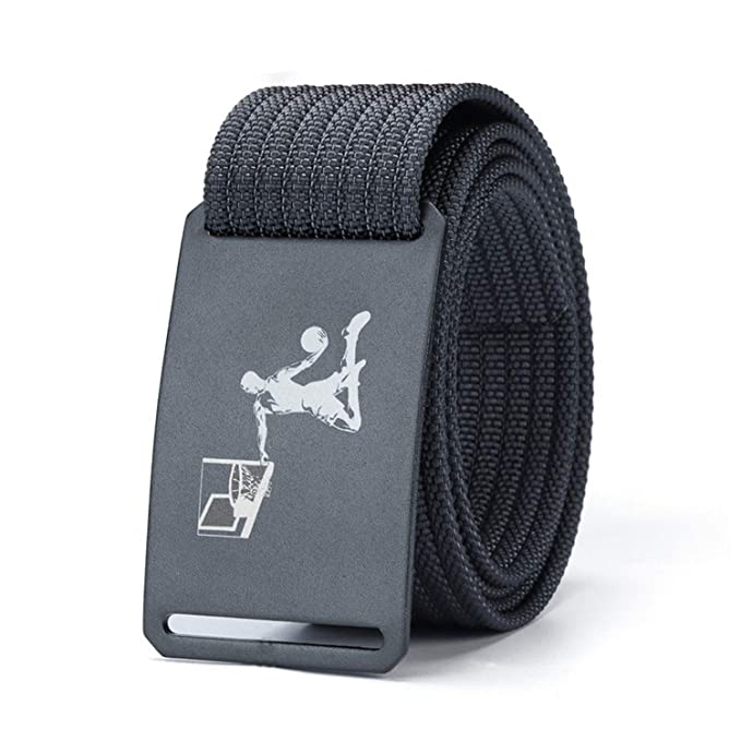 Fashion Men Long Belt Black Aluminum Buckle Knitted Belt Canvas Tactical Belt,Black,120cm 36to41 Inch