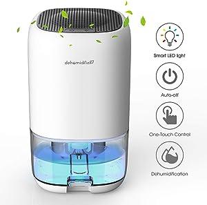 ALROCKET Dehumidifier 35oz(1000ml) Small Dehumidifier for 2100 Cubic Feet (260 sq ft) Portable and Compact Ultra Quiet for Home, basements, Bedroom, Bathroom, Garage, Wardrobe, RV
