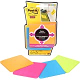 """Post-it Super Sticky Full Adhesive Notes, 3"""" x 3"""", Rio de Janeiro Colours, 4 Pads/Pack"""