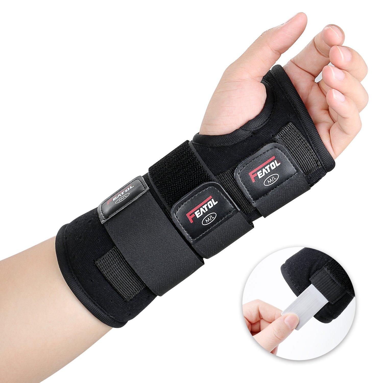 behilflich f/ür M/änner und Frauen| Links /& Rechts Links, M//L Featol Handgelenkbandage Handgelenkst/ütze Handgelenkschiene 17-22 Schutzfunktion Schmerzlinderung und die Stabilit/ät unterst/ützen /…