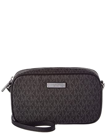 0daf16125337 Amazon.com  Michael Kors Medium Jet Set Signature Crossbody - Black ...