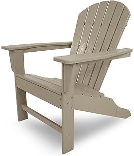 Poly Wood SBA15SA South Beach Adirondack Chair, Sand