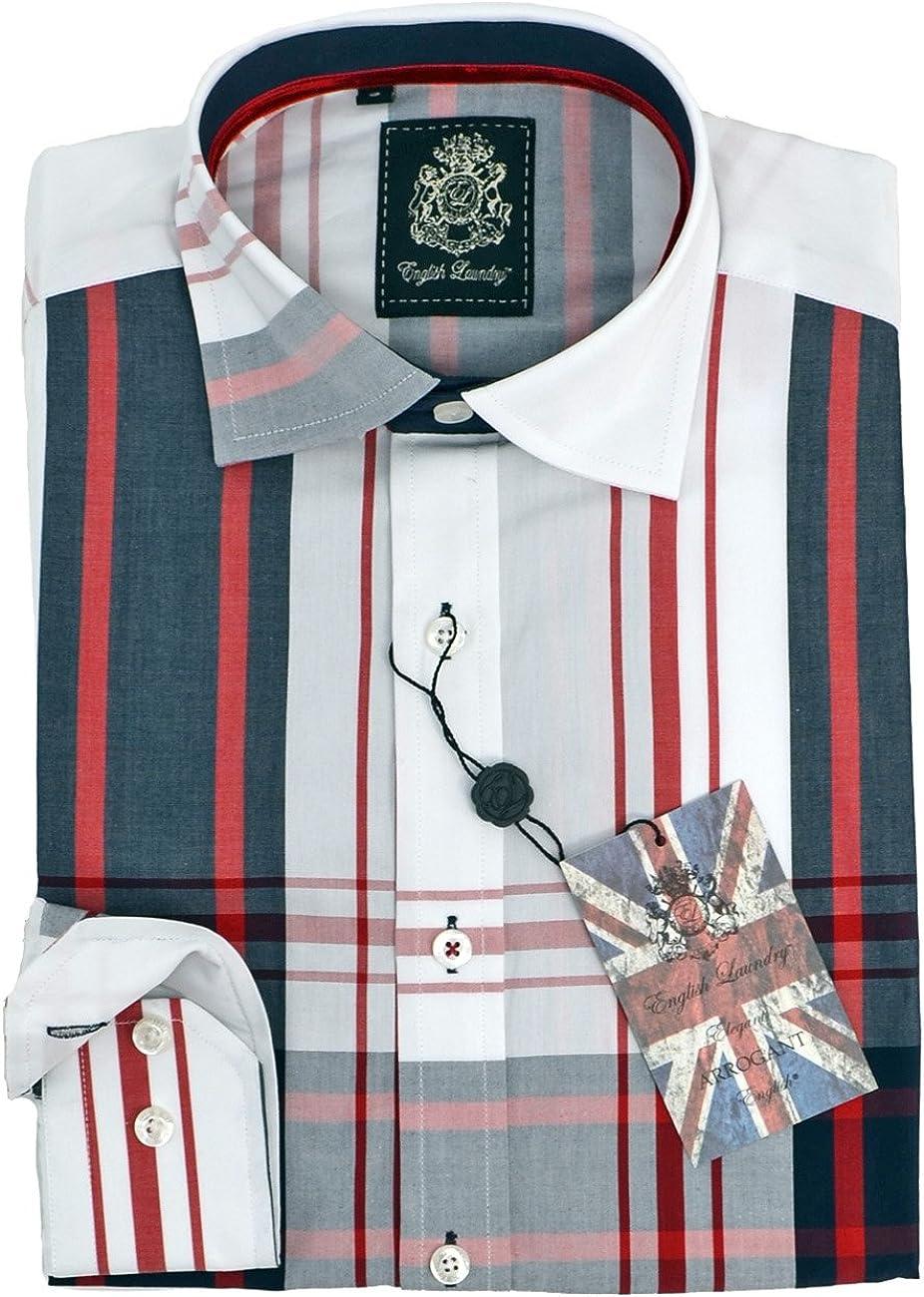 English Laundry Large Plaid Sport Shirt