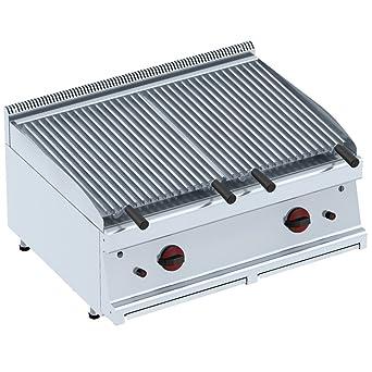 Macfrin 3014 Barbacoa Grill de Lava a Gas 80X60