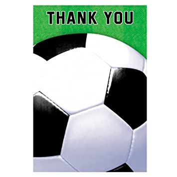 Soccer Fan Thank You Cards 8ct Health Personal Care