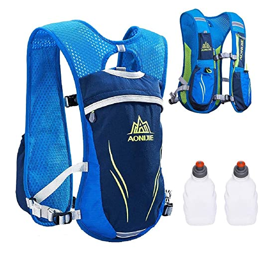 Amazon.com : LIBOLI Hydration Pack Backpack 5.5L Hydration Vest Outdoors Marathoner Running Race Hiking Climbing (Blue) : Sports & Outdoors