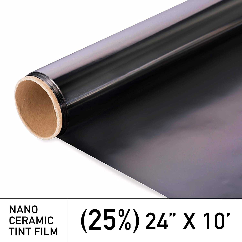 Window Film Roll 25/% 20 Inches x 10 Feet Superior Heat Control//Blocks 99/% UV MotoShield Pro Premium 2mil Ceramic Window Tint for Auto