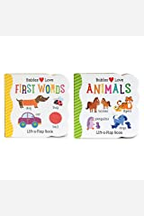2 Pack Chunky Lift-a-Flap Board Books: First Words / Animals Lift-a-Flap Books (Babies Love) Board book