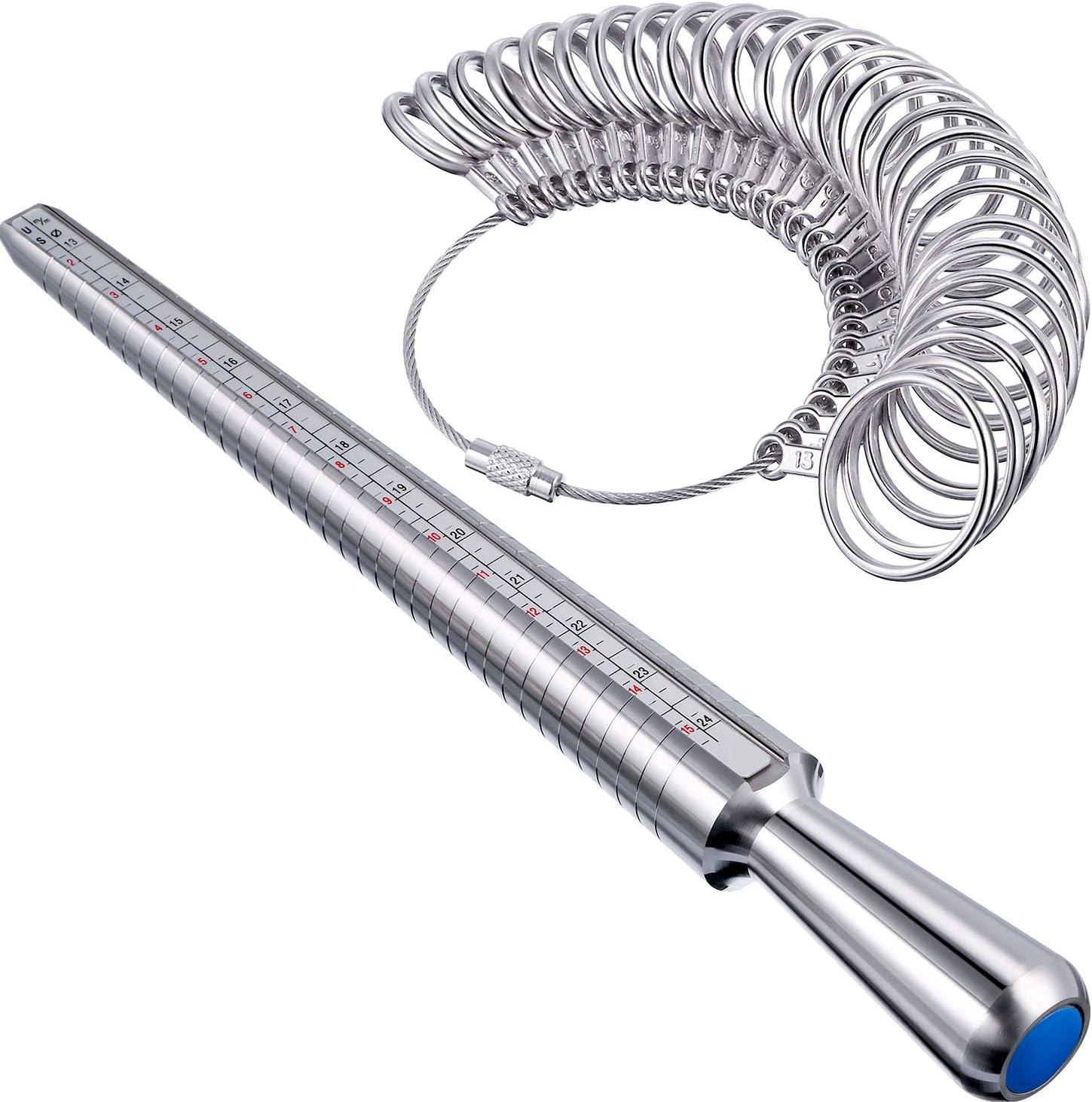 Get 2....10 Inch Black Ring Measuring Stick Ring Mandrel Ring Sizer Finger Gauge