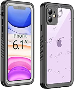 Temdan New Designed iPhone 11 Waterproof Case,Full Body Built in Screen Protector Clear Sound Quality Full Sealed Cover Shockproof Dirtproof Outdoor Rugged Waterproof Case for iPhone 11 6.1 inch-2019