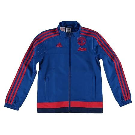17ab8ae7d Manchester United Training Presentation Jacket - Kids Royal Blue   Amazon.co.uk  Kitchen   Home